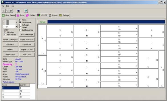 Sheet Layout Optimizer Pipe Glass And Sheet Metal